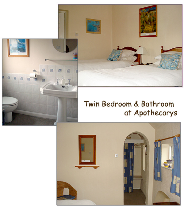 Twin Bedroom Facilities at The Apothecary
